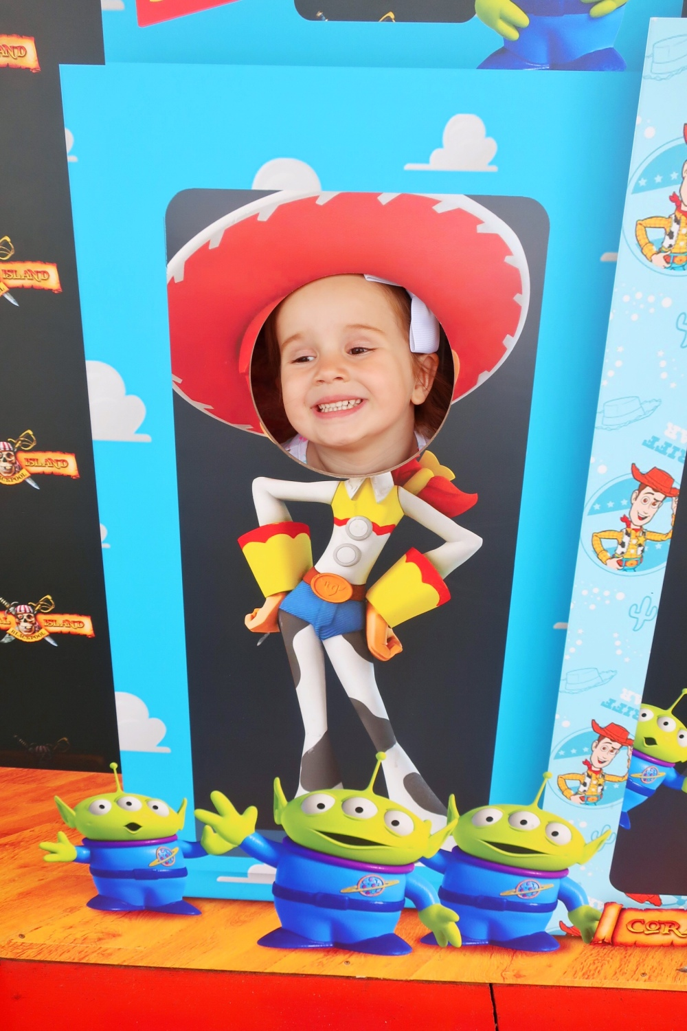 Jessie Toy Story photo board at Coral Island